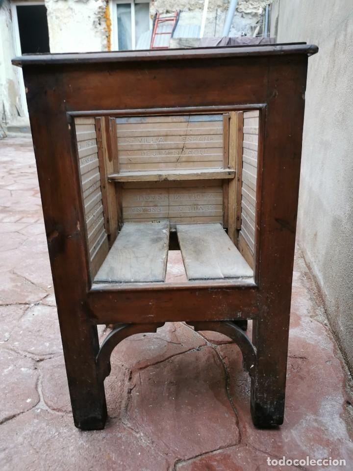 Antigüedades: Mueble macetero de madera y azulejos viuda de J. Mensaque.Sevilla.( 1916-1922) - Foto 7 - 259018620