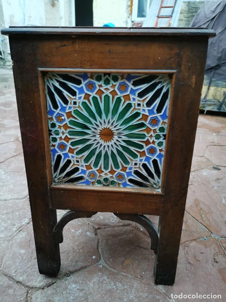 Antigüedades: Mueble macetero de madera y azulejos viuda de J. Mensaque.Sevilla.( 1916-1922) - Foto 11 - 259018620