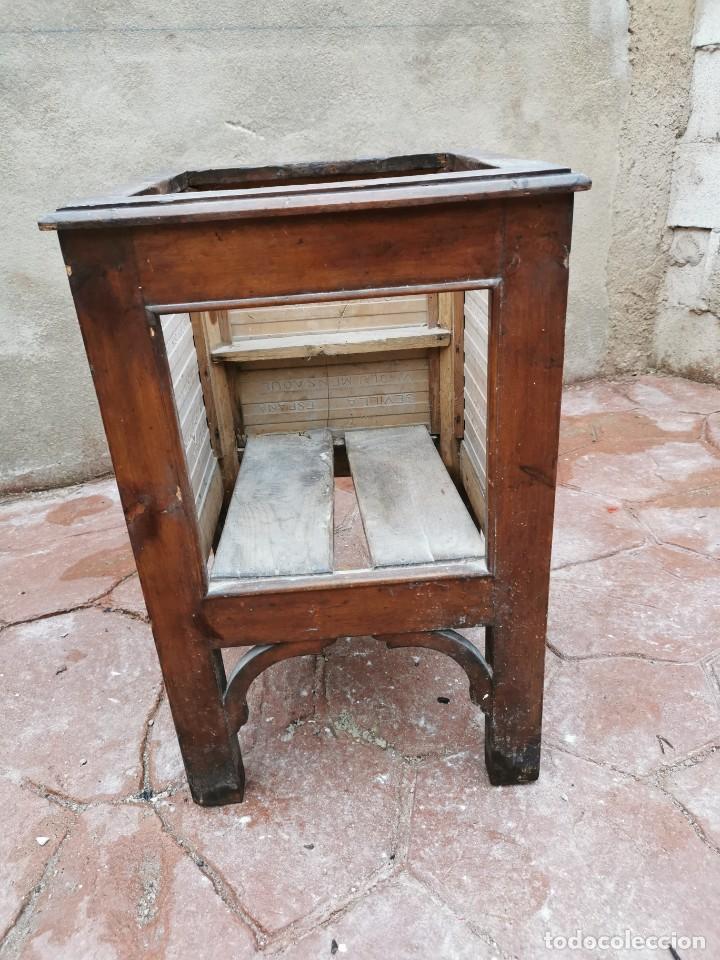 Antigüedades: Mueble macetero de madera y azulejos viuda de J. Mensaque.Sevilla.( 1916-1922) - Foto 13 - 259018620