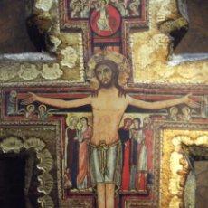 Antiguidades: CRUZ BIZANTINA DE MADERA VINTAGE. Lote 259035390