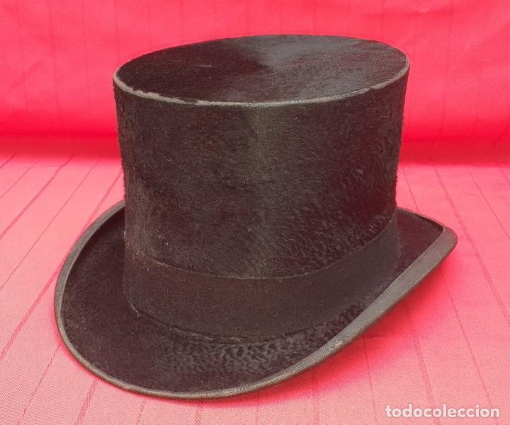 SOMBRERO DE COPA MARCA COMAS Y CA. BARCELONA (Antigüedades - Moda - Sombreros Antiguos)