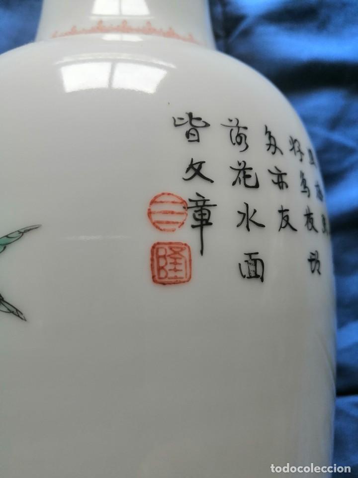 Antigüedades: JARRÓN CERÁMICA CHINA - Foto 14 - 232746485