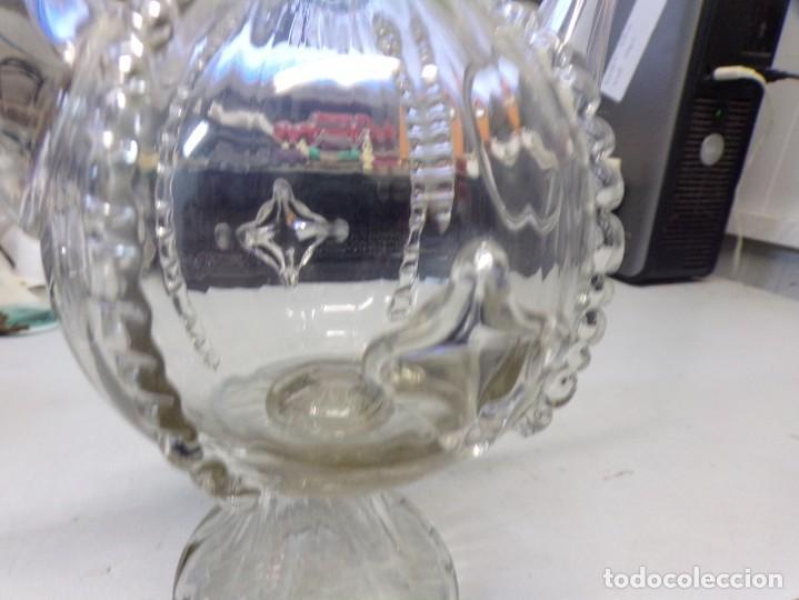 Antigüedades: canti botijo cristal vidrio trabajado catalan en buen estado - Foto 9 - 259231275