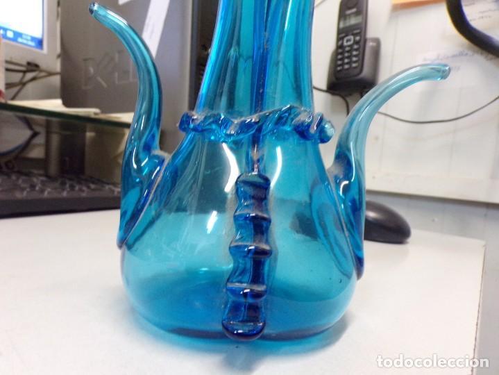 Antigüedades: bonita pieza figueta matrimoni aceitera doble de vidrio cristal catalan - Foto 7 - 259233800