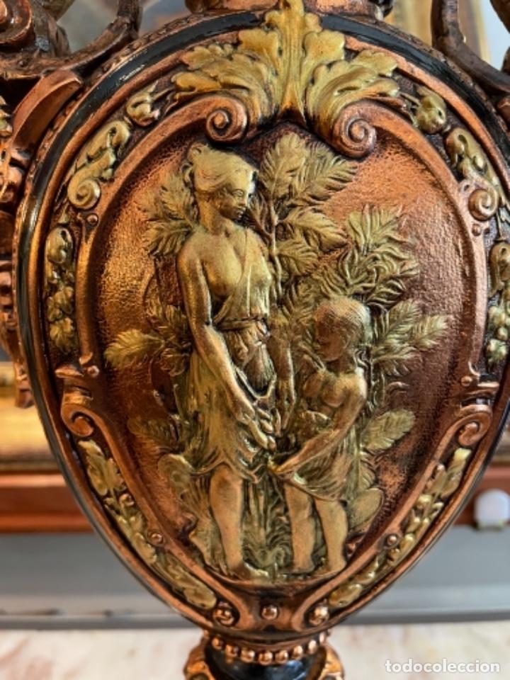 Antigüedades: Preciosa pareja de jarrones antiguos - Foto 3 - 259245115