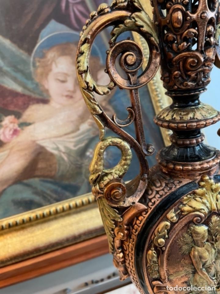 Antigüedades: Preciosa pareja de jarrones antiguos - Foto 6 - 259245115
