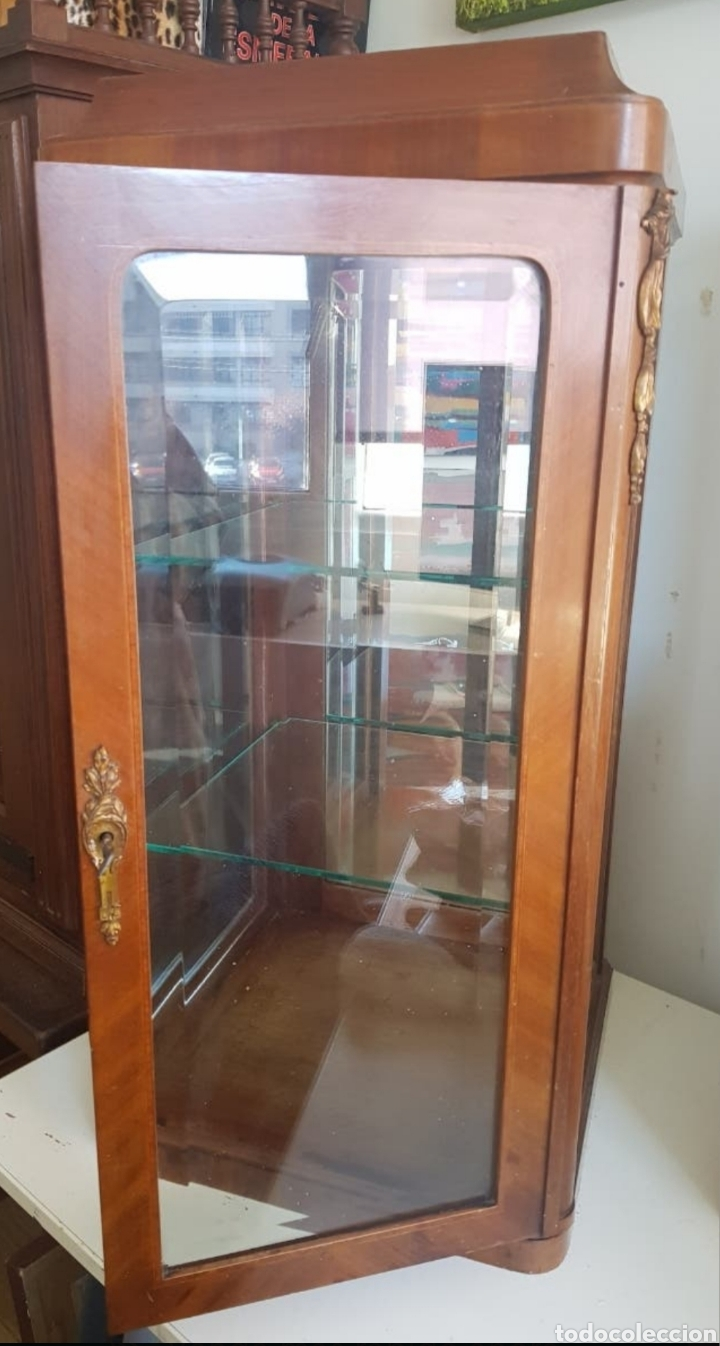 Antigüedades: VITRINA SOBREMESA DE CAOBA RUBIA PRINCIPIOS DEL S.XX SOLO RECOGIDA LOCAL - Foto 3 - 285752508