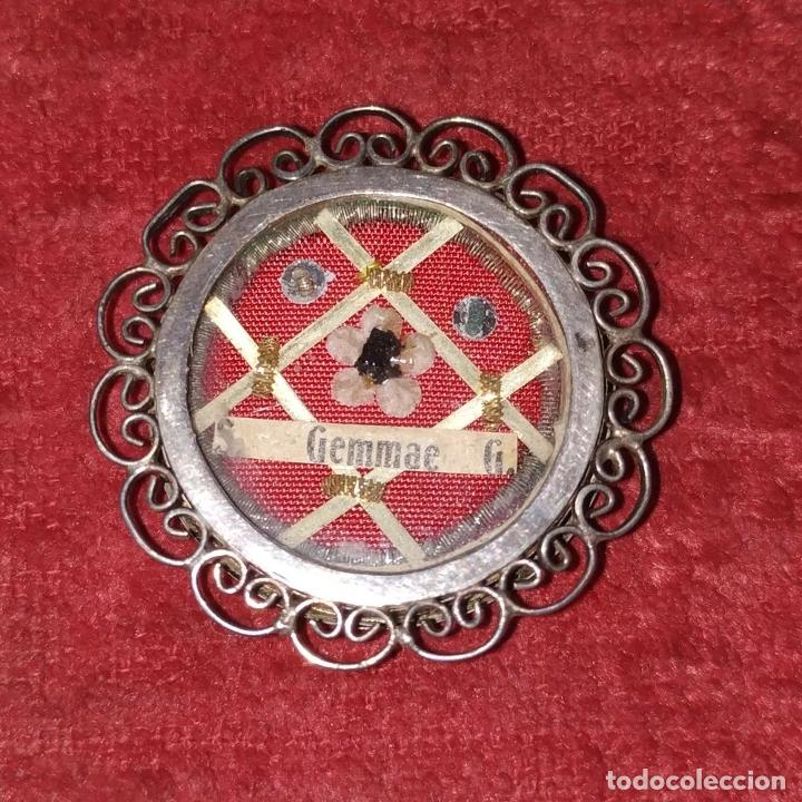 Antigüedades: COLECCIÓN DE 6 RELICARIOS. PLATA. METAL. ESPAÑA. SIGLO XIX-XX - Foto 2 - 259260210