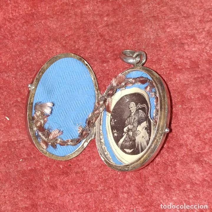 Antigüedades: COLECCIÓN DE 6 RELICARIOS. PLATA. METAL. ESPAÑA. SIGLO XIX-XX - Foto 22 - 259260210