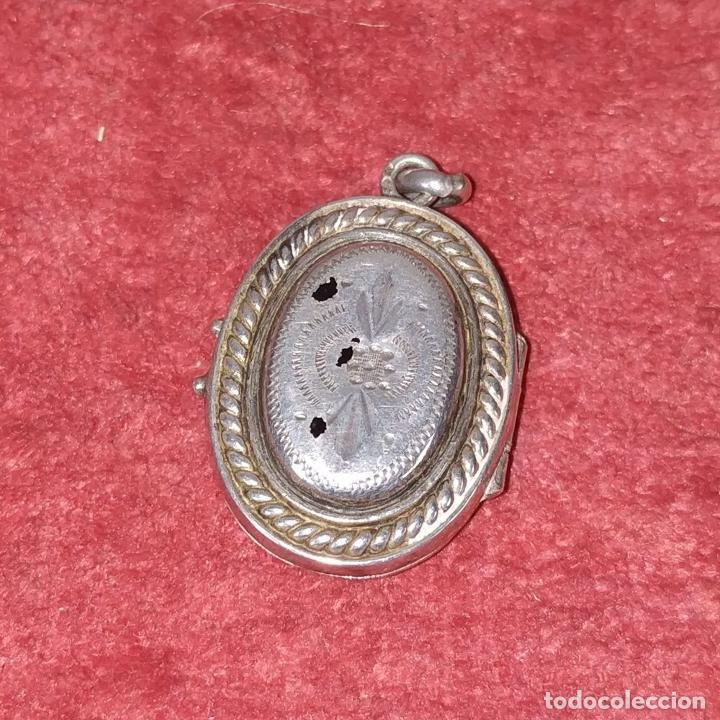 Antigüedades: COLECCIÓN DE 6 RELICARIOS. PLATA. METAL. ESPAÑA. SIGLO XIX-XX - Foto 25 - 259260210