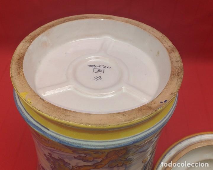 Antigüedades: TARRO DE CERÁMICA DE TALAVERA RUIZ DE LUNA PRIMERA MITAD SIGLO XX - Foto 15 - 259765780