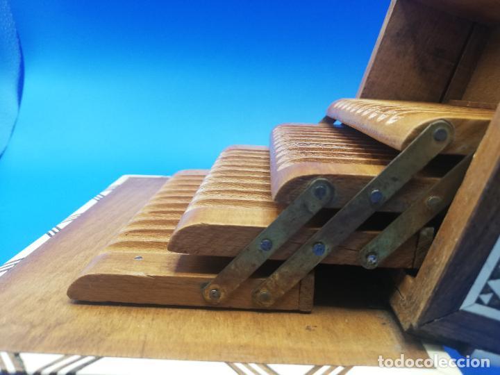 Antigüedades: CAJA CIGARRERA MUSICAL. MARQUETERIA DE TARACEA. VER FOTOS. MEDIDAS . 17 x 9.5 13.5 CM APROX. - Foto 10 - 259780735
