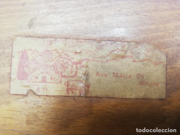 Antigüedades: CAJA CIGARRERA MUSICAL. MARQUETERIA DE TARACEA. VER FOTOS. MEDIDAS . 17 x 9.5 13.5 CM APROX. - Foto 24 - 259780735