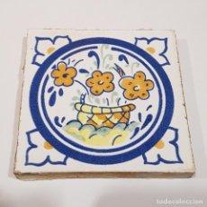 Antigüedades: RAJOLA CATALANA FLORES. Lote 259863500
