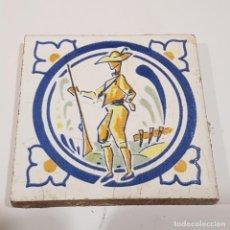 Antigüedades: RAJOLA CATALANA CAZADOR. Lote 259863675