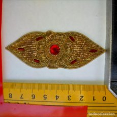 Antigüedades: BORDADO ORO - ANTIGUA PIEZA DE BORDADA A MANO DORADA, IDEAL VIRGEN SEMANA SANTA TRAJE MANTO VER MAS. Lote 259916305
