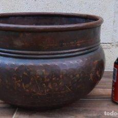 Antigüedades: ANTIGUO CALDERO DE COBRE. Lote 259925150