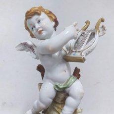 Antigüedades: ÁNGEL DE VERANO, QUERUBÍN. PORCELANA ALGORA. SELLADO EN LA BASE.. Lote 259992255