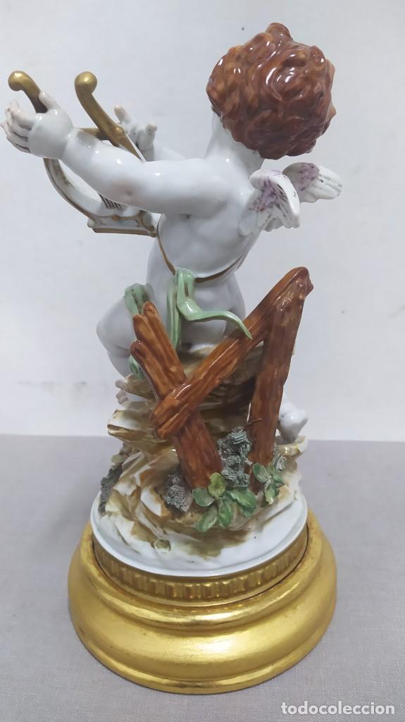 Antigüedades: Ángel de verano, querubín. Porcelana Algora. Sellado en la base. - Foto 5 - 259992255