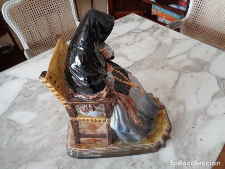 Antigüedades: ANTONIO PEYRO MEZQUITA.MUJER CASTELLANA SENTADA CON ROSARIO - Foto 5 - 260001870