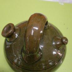 Antigüedades: BOTIJO DE BARRO ESMALTADO ALFARERÍA NOMDEDEU. Lote 260020940