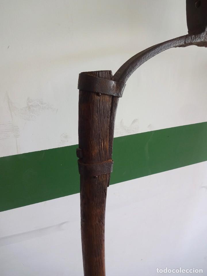 Antigüedades: barras de tiro o tirente de madera de burro para la arada 1,6 metros x 68 cm ganaderia - Foto 4 - 38159933