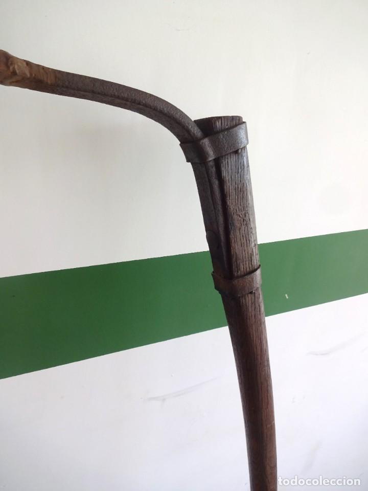 Antigüedades: barras de tiro o tirente de madera de burro para la arada 1,6 metros x 68 cm ganaderia - Foto 5 - 38159933