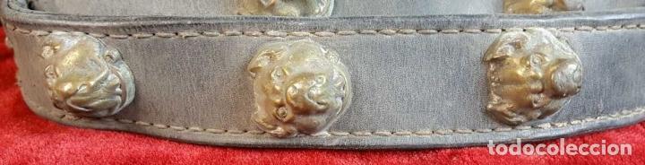 Antigüedades: BOCAL PARA CABALLO. CUERO. REMATES Y HEBILLA EN LATÓN. SIGLO XIX. - Foto 2 - 260046930