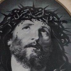 Antigüedades: IMAGEN DE JESUCRISTO TEJIDA EN SEDA PRIMERA MITAD SIGLO XX. Lote 260065800