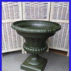 Antigüedades: COPA DE HIERRO MUY BONITA EN TONO VERDE. Lote 260067545