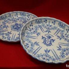 Antigüedades: PAREJA DE PLATOS NIVEIRO. TALAVERA.. Lote 260168920