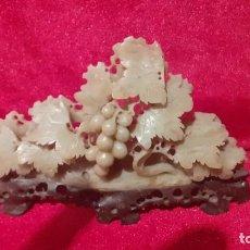 Antigüedades: PEQUÑA TALLA CHINA EN PIEDRA DE JABÓN.. Lote 260297130