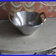 Antigüedades: CUENCO CENTRO DE ACERO DE DAVID MARSHALL. Lote 260318810