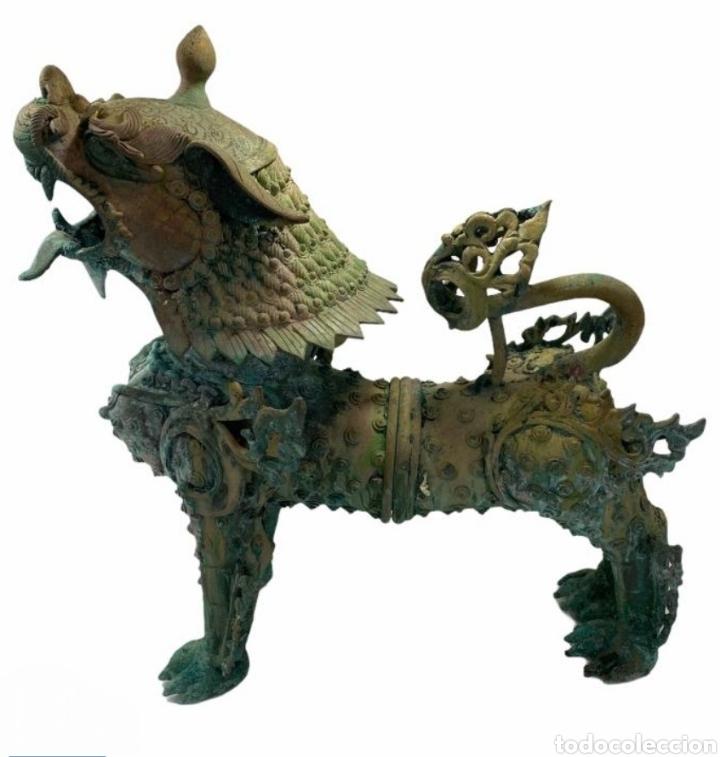 CANE DI FOO IN BRONZO, 1780-1820 (Antigüedades - Hogar y Decoración - Jardineras Antiguas)