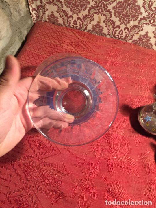 Antigüedades: Antigua florero / jarrón de cristal soplado y tallado a mano de estilo Art Deco años 40-50 - Foto 6 - 260359045