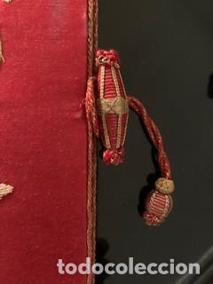 Antigüedades: Excepcional carpeta porta corporales bordada en seda de colores. S. XIX. - Foto 8 - 260359975