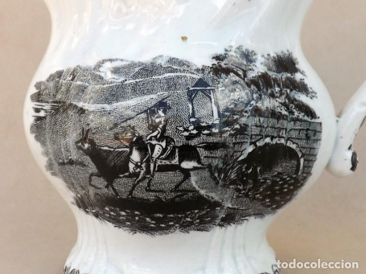 Antigüedades: JARRA DE CERÁMICA DE CARTAGENA SIGLO XIX CAZA - Foto 5 - 260380370