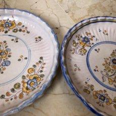 Antigüedades: PAREJA DE PLATOS DE CERÁMICA DE TALAVERA. NIVEIRO. 38 CM DE DIÁMETRO. Lote 260384960
