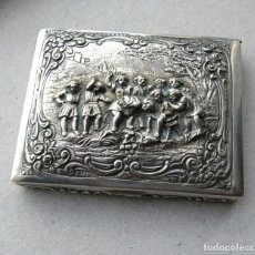 Antigüedades: ANTIGUА CAJA DE CIGARRILLOS DE PLATA 800. ALEMANIA.MANNS ADAM & SOHN - DORNIGHEIM B. HANAU. Lote 260423645
