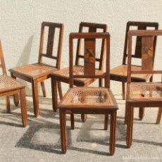 Antigüedades: JUEGO DE SILLAS ART DECÓ. Lote 260445375