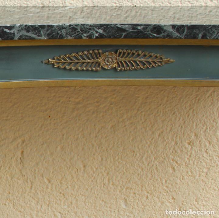 Antigüedades: Consola de los años 40en latón y mármol verde - Foto 4 - 260445390