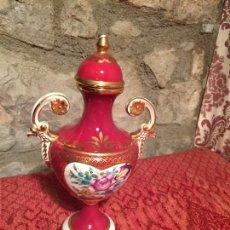 Antigüedades: ANTIGUA COPA JARON/ FLORERO DE ESTILO ISABELINO DE LOS AÑOS 40-50 DECORACIONES FLORALES. Lote 260495825