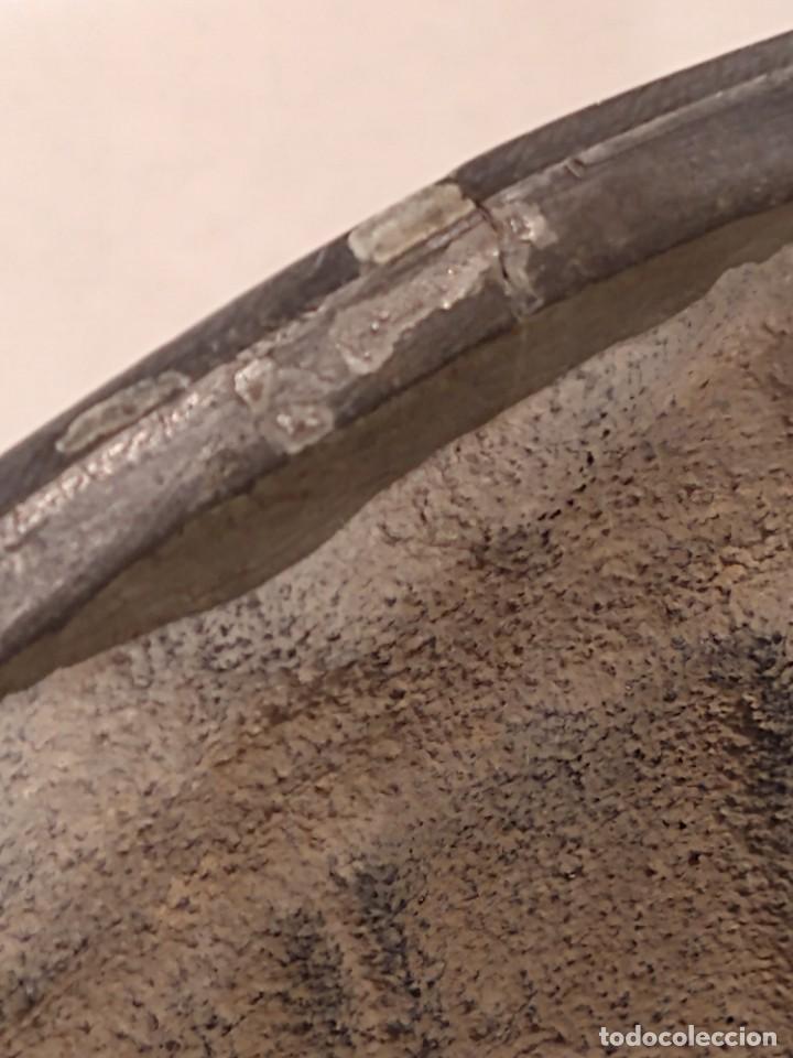 Antigüedades: CENTRO-JARDINERA ART DECÓ EN ESTAÑO. DECORACIÓN GALLONADA. CIRCA 1920. FRANCIA. - Foto 6 - 260506545