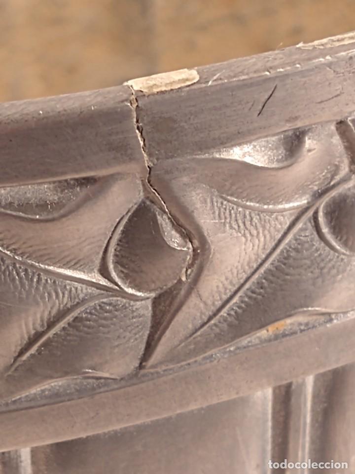 Antigüedades: CENTRO-JARDINERA ART DECÓ EN ESTAÑO. DECORACIÓN GALLONADA. CIRCA 1920. FRANCIA. - Foto 8 - 260506545