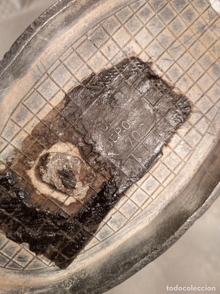 Antigüedades: CENTRO-JARDINERA ART DECÓ EN ESTAÑO. DECORACIÓN GALLONADA. CIRCA 1920. FRANCIA. - Foto 11 - 260506545