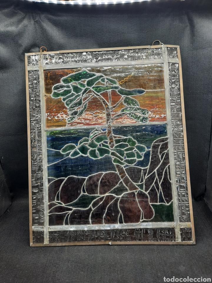 ANTIGUA VIDRIERA PLOMADA (Antigüedades - Cristal y Vidrio - Otros)