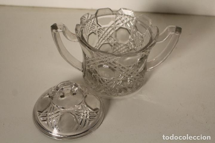 Antigüedades: azucarero cristal de santa lucia - cartagena - Foto 2 - 260634945