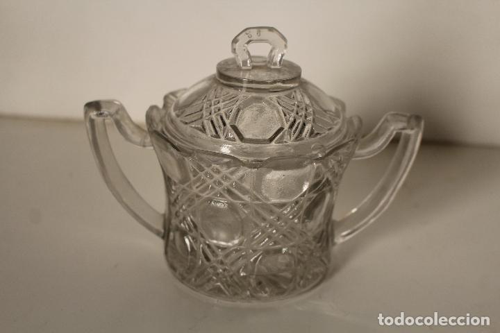 Antigüedades: azucarero cristal de santa lucia - cartagena - Foto 3 - 260634945