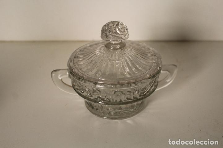 Antigüedades: azucarero cristal de santa lucia - cartagena - Foto 4 - 260635055