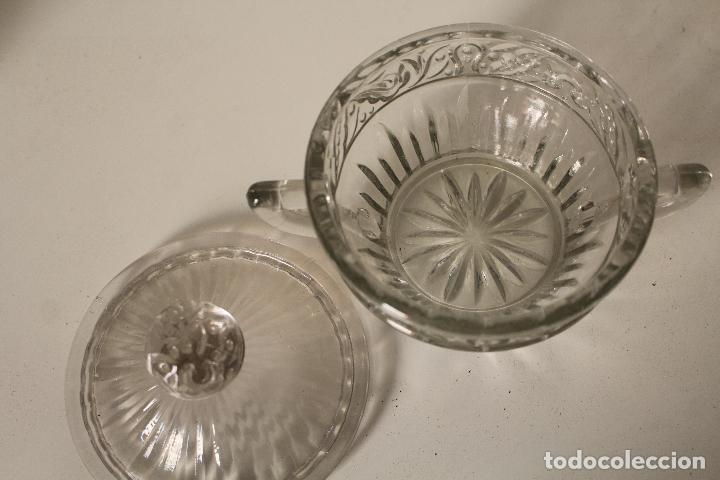 Antigüedades: azucarero cristal de santa lucia - cartagena - Foto 5 - 260635055